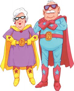 Grandparent superheroes